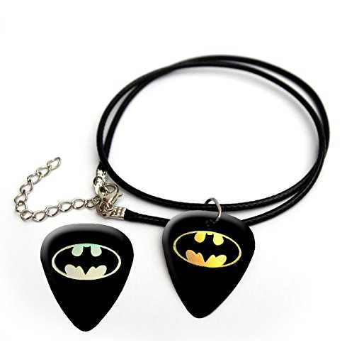 Batman Pearlescent Gold to Silver Changing Guitar pick plectrum Necklace 18