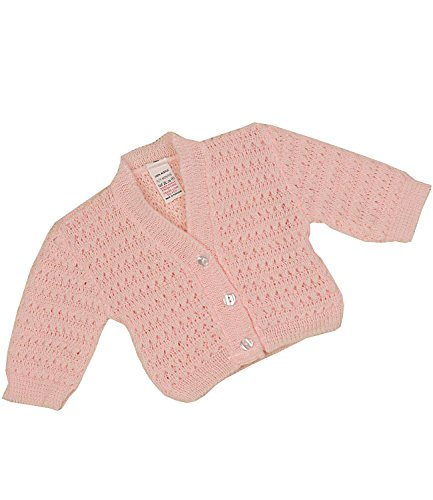 - BabyPrem Baby Cardigan Jacket Lacey Acrylic Newborn-9 mths PINK 0-3