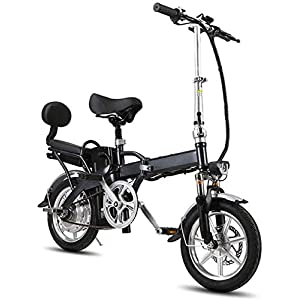 JXH Electric Mountain Bike Folding Professional Electric Bicycle with Removable 48V 8/12/16Ah Lithium-Ion Battery and Dual Disc Brake,for Adults Cycling,12ah