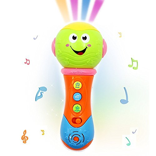 Beby Electronic Musical Microphones for kids children girls Toy Starlight Dreamshow Night Light Projector Toy Songs lightingTransform Acoustic color varied