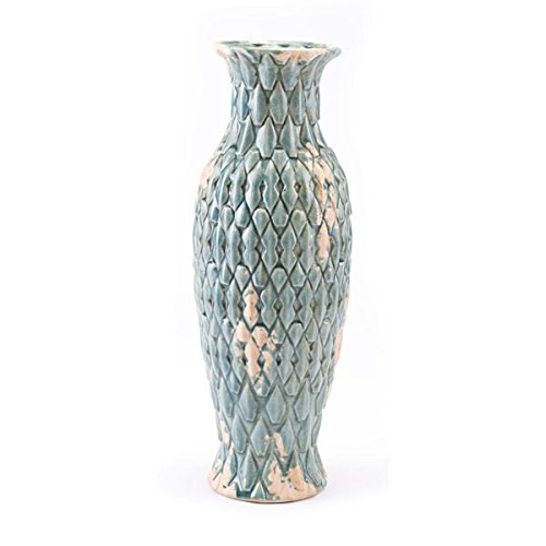 Zuo Seta Vase Medium Distressed Blue