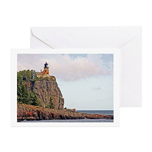 7 Mn Matte (CafePress - Split Rock Lighthouse - Greeting Card, Note Card, Birthday Card, Blank Inside Glossy)