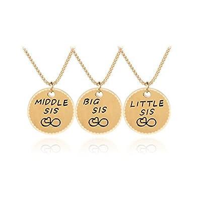 San Francisco 3ce1d 76b05 Collar con 3 hermanas, juego de 3 collares, conjunto de ...