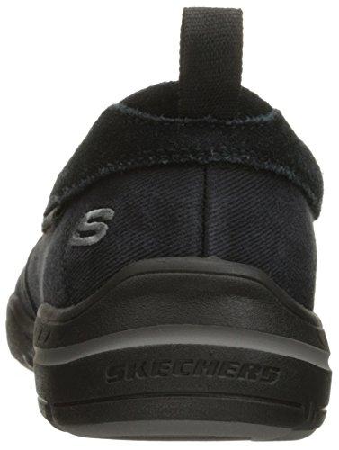 Skechers USA Men's Harper Delen Slip-On Loafer,Black Canvas,10 M US by Skechers (Image #2)