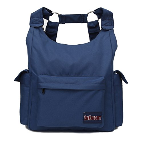 ENKNIGHT Fashion Backpacks Nylon Handbag Shoulder bags Casual Daypack Schoolbag Navy