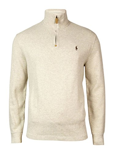 6b6b8df826a1 Polo Ralph Lauren Men s Half Zip French Rib Cotton Sweater - Buy ...