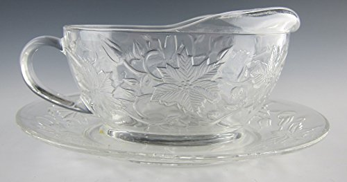Princess House Fantasia Set - Princess House Crystal FANTASIA-CLEAR Gravyboat with Underplate EXCELLENT