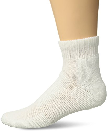 Thorlos Unisex WMX Walking Thick Padded Ankle Sock, White, Large