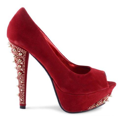 Footwear Sensation - Zapatos de vestir de sintético para mujer rojo - rojo oscuro