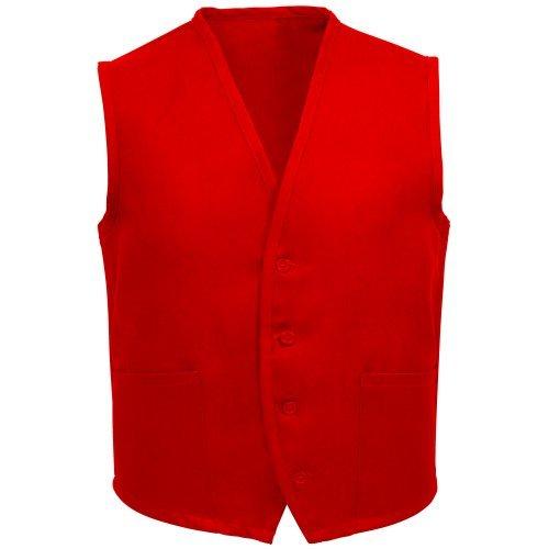 Fame Adult's 2 Pocket Vest- Red -2XL