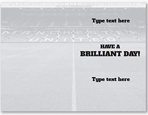 Official Personalised Manchester United FC Stadium Fathers Day Card