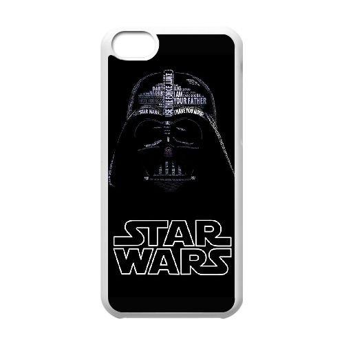 B5R06 Star Wars Darth Vader B8M3JZ cas d'coque iPhone de téléphone cellulaire 5c couvercle coque blanche DH5UJZ6IO
