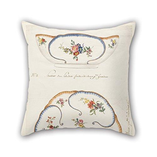 Slimmingpiggy 18 X 18 Inches / 45 By 45 Cm Oil Painting Sèvres Porcelain Manufactory - Design For A Painted Porcelain- 'Cabbage Leaf' Salad Bowl, For Sèvres Porcelain Manufactory Throw Pillow Cov