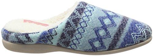 Dunlop Dunlop Bas Top Agace bleu Bleu Femmes Pantoufles Agace S5xwqB
