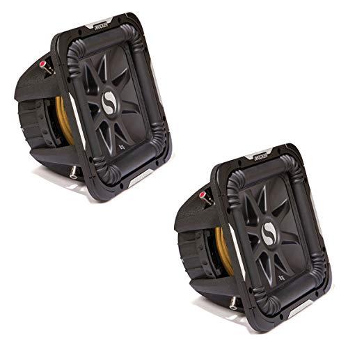 Kicker 11S12L74 x 2 Solobaric L7 Subwoofer Dual 4 Ohm 12