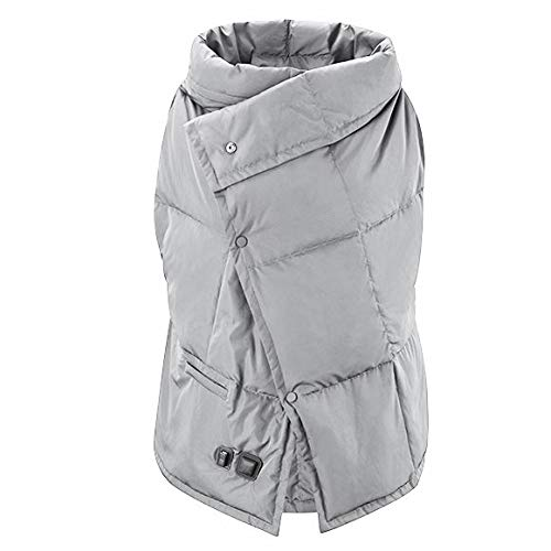 Dako Living Portable Super Fast Heating Blanket Battery Powered Electric Heated Blanket Body Warming Throw Blanket Couch Blanket Outdoor Blanket (Gray with Battery)