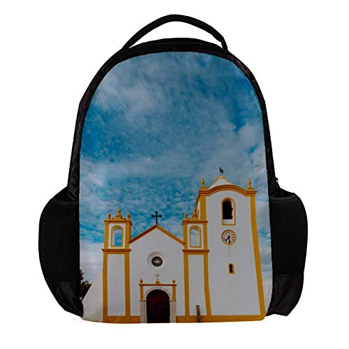 Yuzheng The Church in The Village of Luz in Lagos in The Algarve Region, Portugal Fashion Backpack Sofa for Women,Men,Student Outdoor