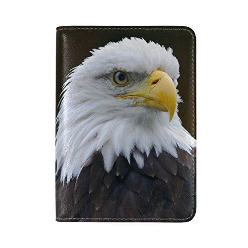 American Bald Eagle Leather Passport Cover - Holder - for Men & Women - Passport (Bald Eagle Dog Costume)