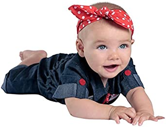Rosie the Riveter Costume & Outfit Ideas Princess Paradise Baby Girls Rosie The Riveter Blue Newborn $31.79 AT vintagedancer.com
