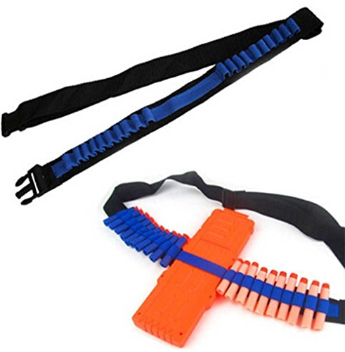 BOROLAF Toy Gun Bullet Shoulder Strap Darts Bandolier Kit Ammo Storage Holder For Elite Nerf Nstrike BlastersNStrike Elite Bandolier Kit