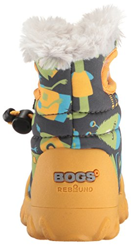 Moc Insulated Waterproof Bogs Grey Multi Dark Winter B Toddler Kids' Boot Gelb RxqxZwE