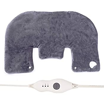 Heating Pad for Neck and Shoulders 3 Temperature Settings Shoulder Heating Pad Gray Heat Pad with Auto Shut Off 18''x25'' Gray