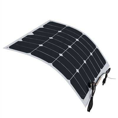 HQST 50 Watt 12 Volt Monocrystalline Lightweight Solar Panel for RV/Boat/Other Off Grid Applications by HQST
