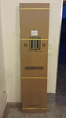 BOX DOCCIA IN PVC A SOFFIETTO SEMICIRCOLARE 1 ANTA CM 90/90XH185: Amazon.es: Hogar
