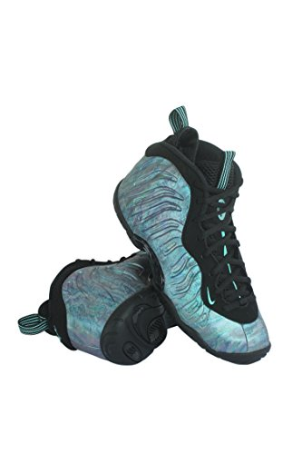NIKE Gradeschool Little Posite One Premium Shoe Black/Green (6 Youth)