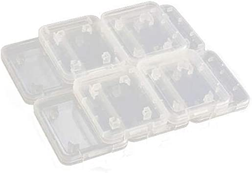 GOOTRADES 20 x Funda Transparente Forros para Tarjetas de Memoria Plástico Caja Estuche Guardar Estándar Micro SD, SDHC Tarjetas de Memorias: Amazon.es: Electrónica