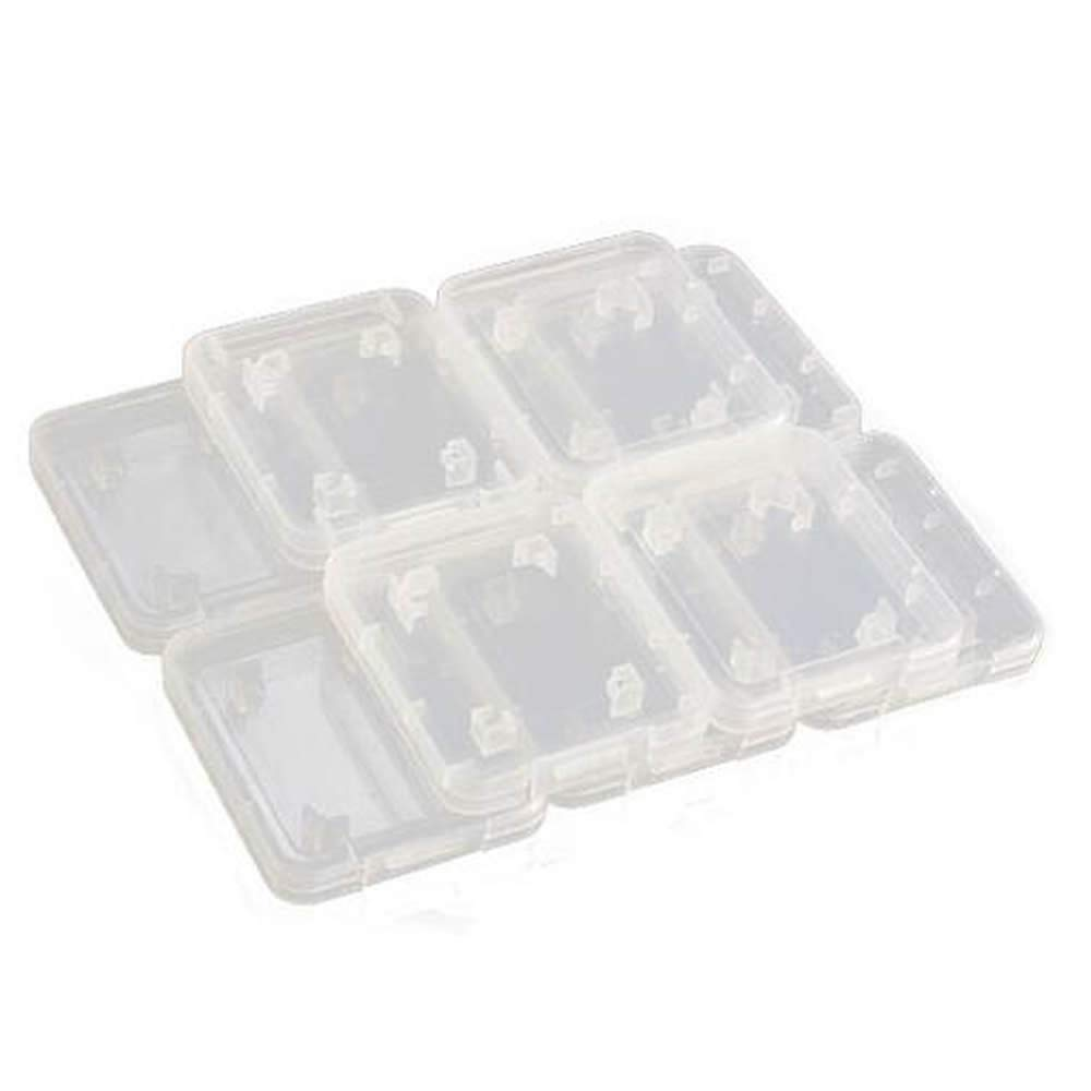 GOOTRADES Transparent Standard SD SDHC Memory Card Case Holder Box Storage Boxes (Pack of 10) LYSB01IQWF0H6-CMPTRACCS