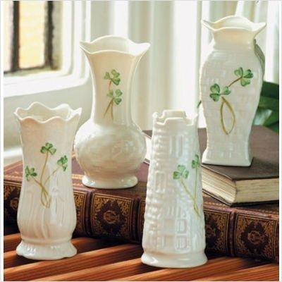 Belleek Vase Collection Set Of 4 Mini B1781 by Belleek