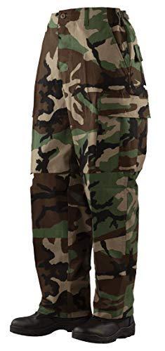 (Tru-Spec Men's BDU Pants Woodland CAMO (Small/Regular))