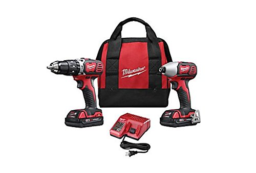 Professional Drill Impact (Milwaukee 2697-22CT M18 18-Volt Lithium-Ion Cordless Hammer Drill/Impact Driver Combo Kit)