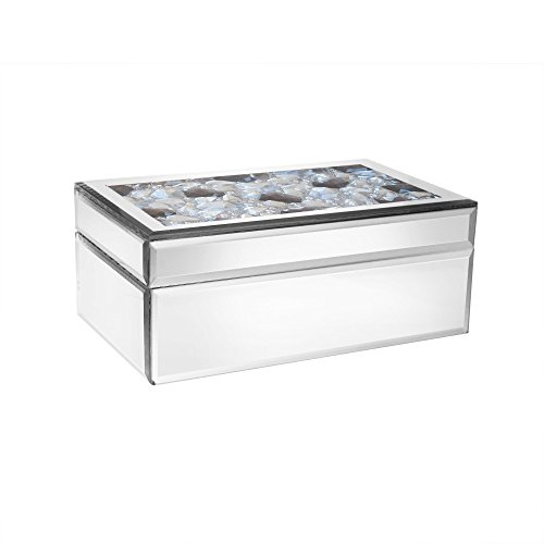 American Atelier Rectangle Mirror Jewelry Box-Gray by American Atelier