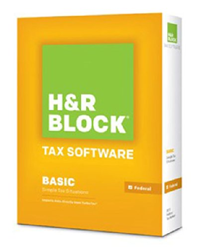 H&R BLOCK Tax Software Basic (Simple Tax Situations) Federal - Tax R Block Software H 2013