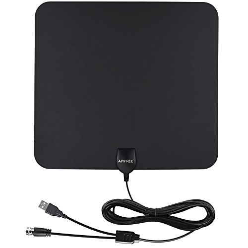 HDTV Antenna - 50 Miles Range Amplified Digtial Indoor TV Antenna with New Version Amplifier for High Reception and 13.2ft Coaxial cable