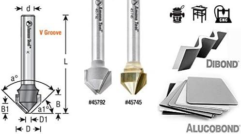 45798 Carbide Tipped Double Edge Folding V-Groove 135 Deg x 0.080 Tip Wi Amana Tool