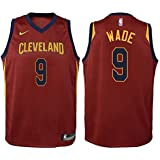 NIKE Dwyane Wade Cleveland Cavaliers NBA Youth Burgundy Road Swingman Icon Jersey
