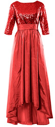 High Sleeve Red Bride 4 Gown The Evening low Sequin Women Of Mother Macloth 3 Dress Tqxt76wgn0
