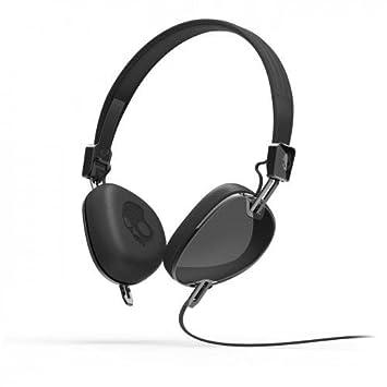 Skullcandy Navigator On-Ear Headphones with Mic - Black  Amazon.co ... 8bb6aa8641