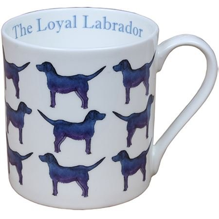 Milly Green The Loyal Labrador Large Fine Bone China Mug - Hand Decorated in UK