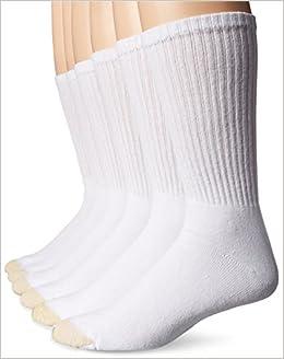 590d8a8c1 Gold Toe Men's Cotton Crew Extended 656SE Athletic Socks,White,14-16  Paperback