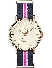 Timex TW2P91500GP Weekender Fairfield White Dial Nylon NATO Strap Watch