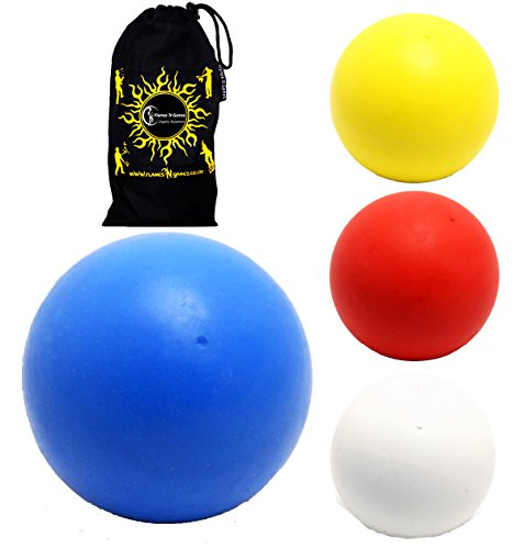 Play Bounce Ball + Travel Bag! Superb 90% Rebound Bouncing Juggling Balls.Price per Ball. (Blue, - Bounce Juggling Balls