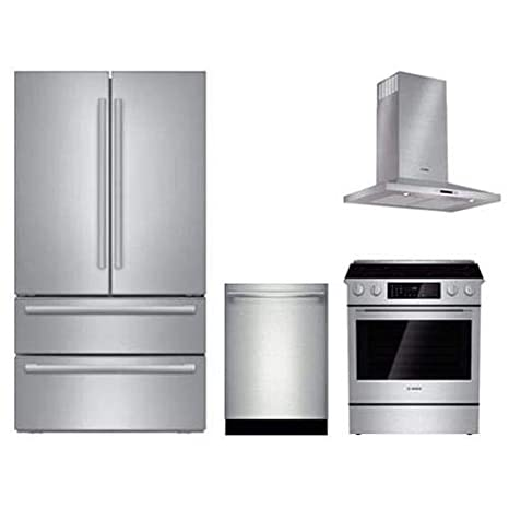 Amazon Com 4 Piece Stainless Steel Kitchen Package With B21cl81sns