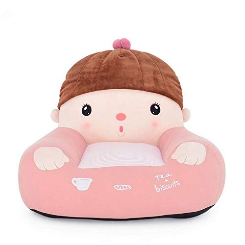 Siweike Mini Sofa Plush Toy Cartoon Children's Sofa Large Size Baby Seat Creative Sweet Seats for HOM Baby Kids Birthday Gift(Pink) by Siweike