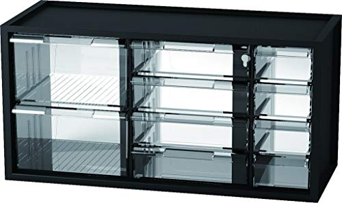 livinbox 10 Drawers Desktop Organizer Hardware and Craft Cabinet, Parts Storage Container A9-5244 - Black
