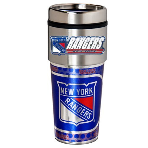 NHL New York Rangers Metallic Travel Tumbler,  16-Ounce
