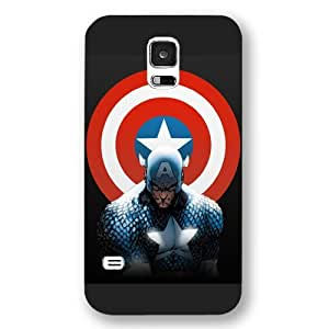 UniqueBox - Customized Personalized Black Frosted Samsung Galaxy S5 Case, Captain America Shield Samsung S5 case, Only fit Samsung Galaxy S5